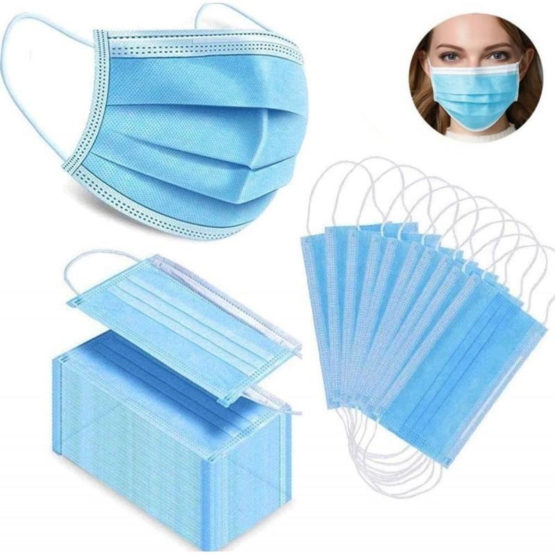 99,95 € Envio grátis | Caixa de 500 unidades Máscaras Proteção Respiratória Máscara sanitária facial descartável. Proteção respiratória. Respirável com filtro de 3 camadas