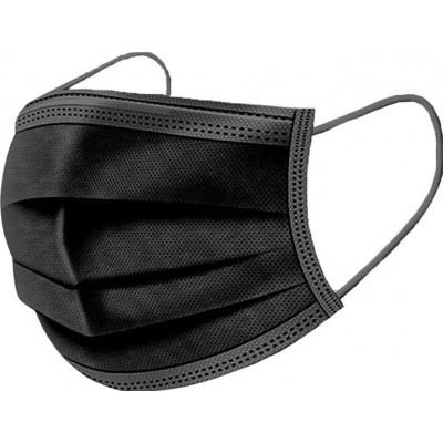 159,95 € 免费送货 | 盒装1000个 呼吸防护面罩 一次性面部卫生口罩。呼吸系统防护。三层过滤透气