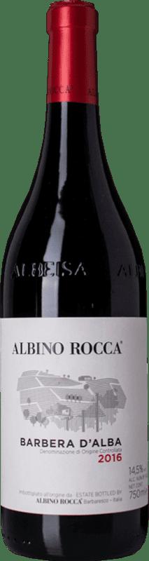14,95 € Free Shipping | Red wine Albino Rocca D.O.C. Barbera d'Alba Piemonte Italy Barbera Bottle 75 cl