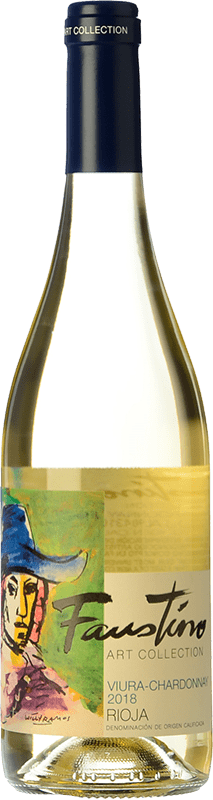 8,95 € Free Shipping   White wine Faustino Faustino Art Collection Viura Chardonnay D.O.Ca. Rioja The Rioja Spain Viura, Chardonnay Bottle 75 cl