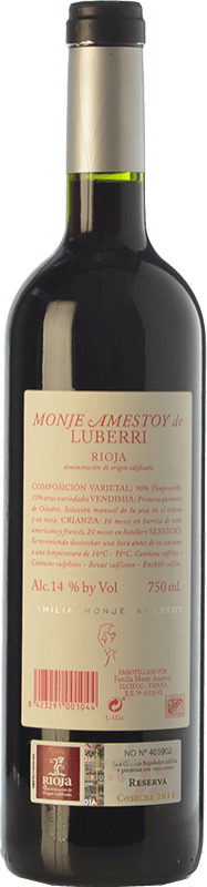 19,95 € Free Shipping   Red wine Luberri Reserva D.O.Ca. Rioja The Rioja Spain Tempranillo, Cabernet Sauvignon Bottle 75 cl