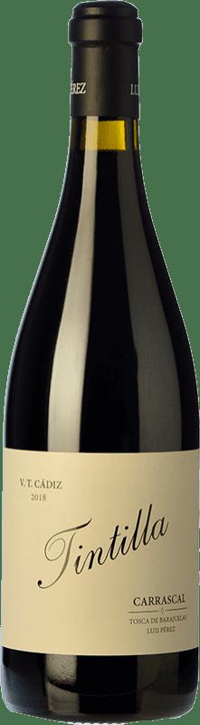 19,95 € Free Shipping | Red wine Luis Pérez Carrascal Crianza I.G.P. Vino de la Tierra de Cádiz Andalusia Spain Tintilla Bottle 75 cl