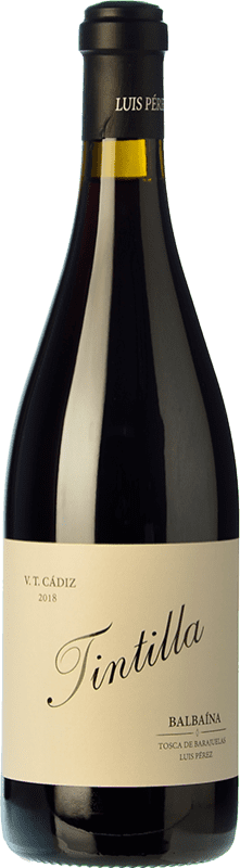 19,95 € Free Shipping | Red wine Luis Pérez Balbaina Crianza I.G.P. Vino de la Tierra de Cádiz Andalusia Spain Tintilla Bottle 75 cl