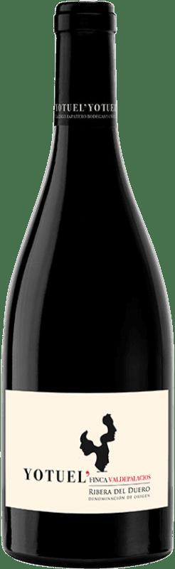 34,95 € Free Shipping | Red wine Gallego Zapatero Yotuel Finca Valdepalacios Crianza D.O. Ribera del Duero Castilla y León Spain Tempranillo Bottle 75 cl