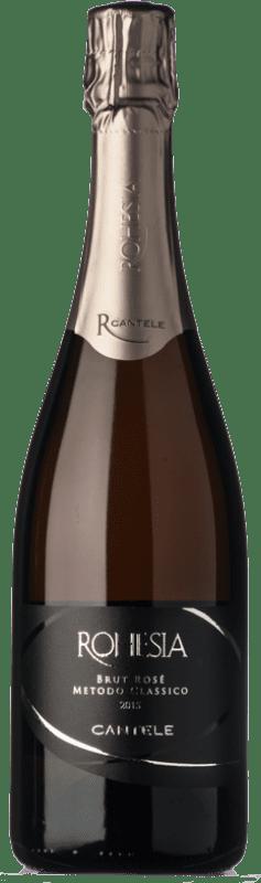 19,95 € Free Shipping   Rosé sparkling Cantele Metodo Classico Rhoesia Rosé Brut I.G.T. Puglia Puglia Italy Negroamaro Bottle 75 cl