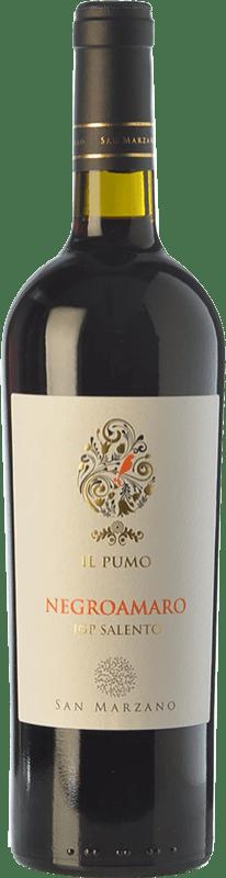10,95 € Free Shipping | Red wine San Marzano Il Pumo I.G.T. Salento Puglia Italy Negroamaro Bottle 75 cl