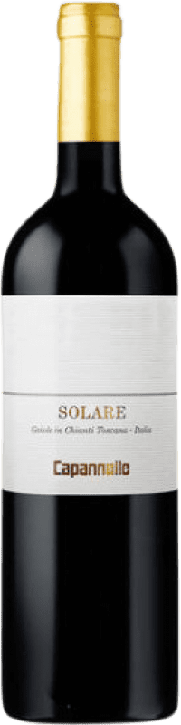49,95 € Free Shipping | Red wine Capannelle Rosso Solare I.G.T. Toscana Tuscany Italy Sangiovese, Malvasia Black Bottle 75 cl