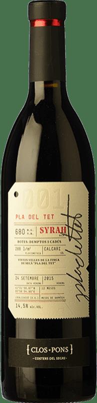 24,95 € Free Shipping | Red wine Clos Pons Pla del Tet Crianza D.O. Costers del Segre Catalonia Spain Syrah Bottle 75 cl