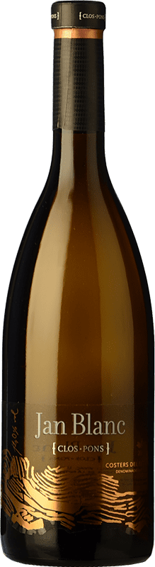 9,95 € Free Shipping | White wine Clos Pons Jan Blanc Crianza D.O. Costers del Segre Catalonia Spain Macabeo, Chardonnay Bottle 75 cl