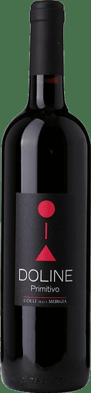 12,95 € Free Shipping | Red wine Colli della Murgia Doline I.G.T. Puglia Puglia Italy Primitivo Bottle 75 cl