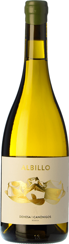 22,95 € Free Shipping | White wine Dehesa de los Canónigos Crianza D.O. Ribera del Duero Castilla y León Spain Albillo Bottle 75 cl