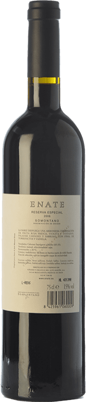 67,95 € Free Shipping | Red wine Enate Especial Reserva 2006 D.O. Somontano Catalonia Spain Merlot, Cabernet Sauvignon Bottle 75 cl
