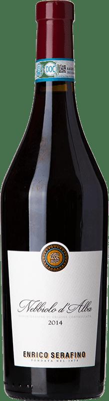 11,95 € Free Shipping | Red wine Enrico Serafino D.O.C. Nebbiolo d'Alba Piemonte Italy Nebbiolo Bottle 75 cl