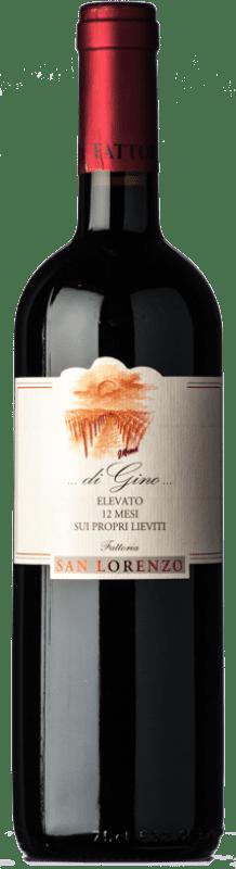 13,95 € Free Shipping | Red wine San Lorenzo di Gino D.O.C. Rosso Piceno Marche Italy Sangiovese, Montepulciano Bottle 75 cl
