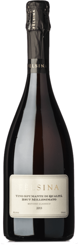 21,95 € Free Shipping | White sparkling Fèlsina Metodo Classico Millesimato Brut I.G.T. Toscana Tuscany Italy Sangiovese, Pinot Black, Chardonnay Bottle 75 cl
