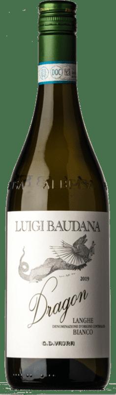 12,95 € Free Shipping | White wine G.D. Vajra Luigi Baudana Bianco Dragon D.O.C. Langhe Piemonte Italy Chardonnay, Riesling, Sauvignon, Nascetta Bottle 75 cl
