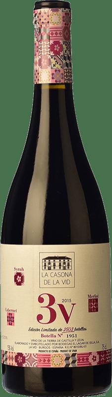 23,95 € Free Shipping | Red wine Lagar de Isilla La Casona de la Vid 3V Crianza I.G.P. Vino de la Tierra de Castilla y León Castilla y León Spain Merlot, Syrah, Cabernet Sauvignon Bottle 75 cl