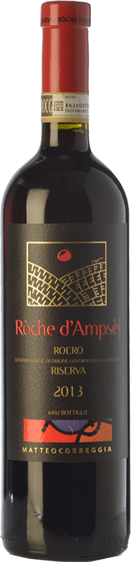 46,95 € Free Shipping | Red wine Matteo Correggia Riserva Ròche d'Ampsèj Reserva D.O.C.G. Roero Piemonte Italy Nebbiolo Bottle 75 cl