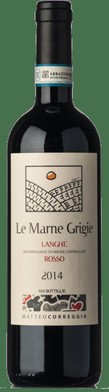 39,95 € Free Shipping | Red wine Matteo Correggia Le Marne Grigie D.O.C. Langhe Piemonte Italy Merlot, Syrah, Cabernet Sauvignon, Cabernet Franc, Petit Verdot Bottle 75 cl