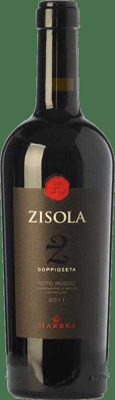 34,95 € Free Shipping | Red wine Mazzei Zisola Doppiozeta D.O.C. Noto Sicily Italy Syrah, Cabernet Franc, Nero d'Avola Bottle 75 cl