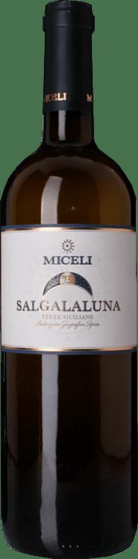 10,95 € Free Shipping | White wine Miceli Salgalaluna I.G.T. Terre Siciliane Sicily Italy Grillo Bottle 75 cl