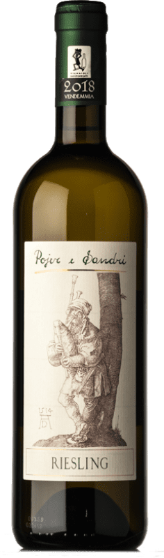 21,95 € Free Shipping | White wine Pojer e Sandri D.O.C. Trentino Trentino-Alto Adige Italy Riesling Bottle 75 cl