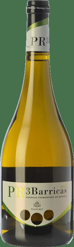 14,95 € Free Shipping | White wine Ventosilla PradoRey PR3 Barricas Crianza D.O. Rueda Castilla y León Spain Verdejo Bottle 75 cl