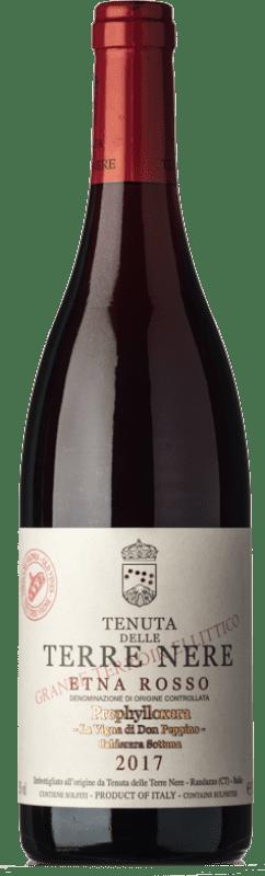 124,95 € Free Shipping | Red wine Tenuta Nere Calderara Sottana Prephylloxera D.O.C. Etna Sicily Italy Nerello Mascalese, Nerello Cappuccio Bottle 75 cl