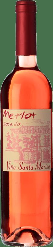 6,95 € Free Shipping | Rosé wine Santa Marina Rosado I.G.P. Vino de la Tierra de Extremadura Estremadura Spain Merlot Bottle 75 cl