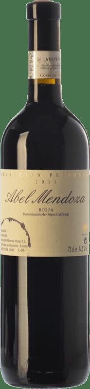 32,95 € Envoi gratuit | Vin rouge Abel Mendoza Selección Personal Crianza D.O.Ca. Rioja La Rioja Espagne Tempranillo Bouteille 75 cl