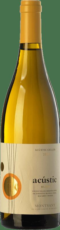 14,95 € Envío gratis | Vino blanco Acústic Blanc Crianza D.O. Montsant Cataluña España Garnacha Blanca, Garnacha Gris, Macabeo, Xarel·lo Botella 75 cl