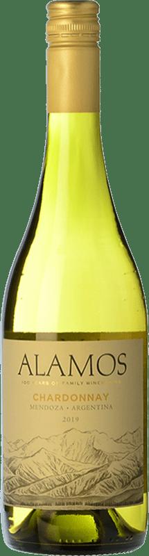 8,95 € Envío gratis | Vino blanco Alamos Crianza I.G. Mendoza Mendoza Argentina Chardonnay Botella 75 cl
