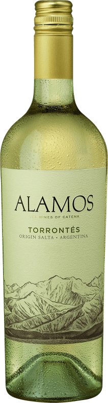 8,95 € Envío gratis | Vino blanco Alamos I.G. Mendoza Mendoza Argentina Torrontés Botella 75 cl