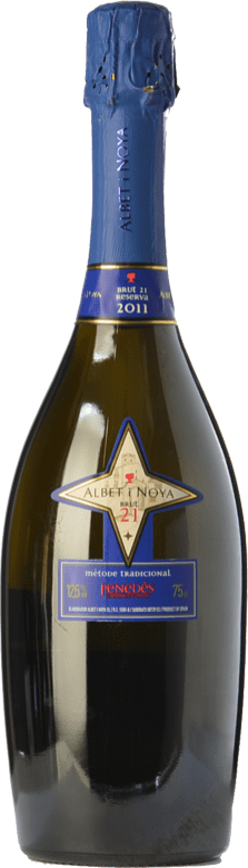 19,95 € Envío gratis | Espumoso blanco Albet i Noya 21 Brut Reserva D.O. Penedès Cataluña España Chardonnay, Parellada Botella 75 cl