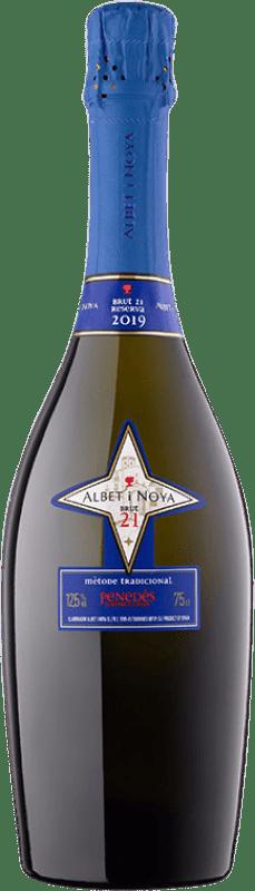 19,95 € Free Shipping | White sparkling Albet i Noya 21 Brut Reserva D.O. Penedès Catalonia Spain Chardonnay, Parellada Bottle 75 cl