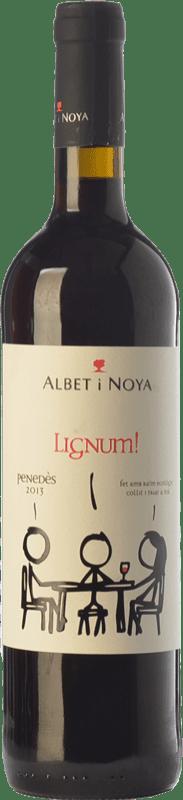 9,95 € Free Shipping | Red wine Albet i Noya Lignum Negre Crianza D.O. Penedès Catalonia Spain Tempranillo, Merlot, Syrah, Grenache, Cabernet Sauvignon Bottle 75 cl