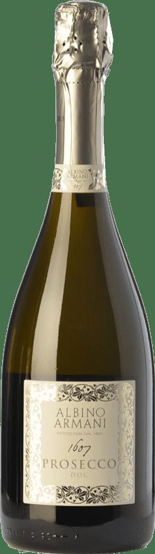 13,95 € Free Shipping | White sparkling Albino Armani D.O.C. Prosecco Veneto Italy Glera Bottle 75 cl