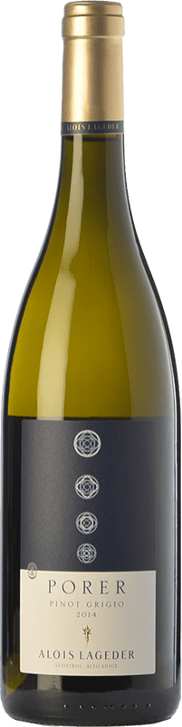 22,95 € Free Shipping | White wine Lageder Pinot Grigio Porer D.O.C. Alto Adige Trentino-Alto Adige Italy Pinot Grey Bottle 75 cl