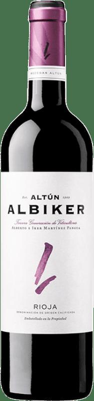 8,95 € Envío gratis | Vino tinto Altún Albiker Joven D.O.Ca. Rioja La Rioja España Tempranillo, Viura Botella 75 cl
