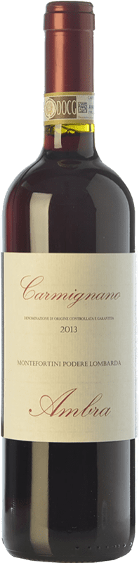16,95 € | Red wine Ambra Montefortini D.O.C.G. Carmignano Tuscany Italy Cabernet Sauvignon, Sangiovese, Canaiolo Bottle 75 cl