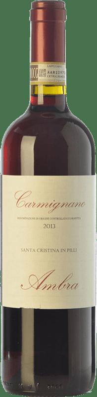 17,95 € | Red wine Ambra Santa Cristina in Pilli D.O.C.G. Carmignano Tuscany Italy Cabernet Sauvignon, Sangiovese, Canaiolo Bottle 75 cl