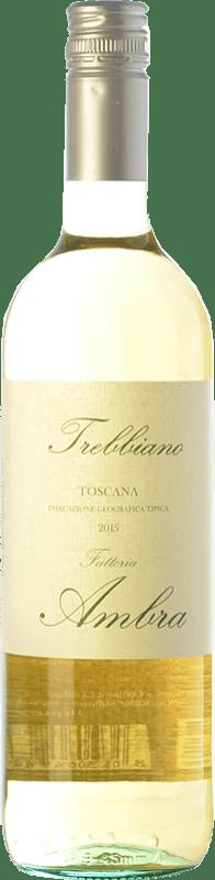 9,95 € | White wine Ambra I.G.T. Toscana Tuscany Italy Trebbiano Bottle 75 cl