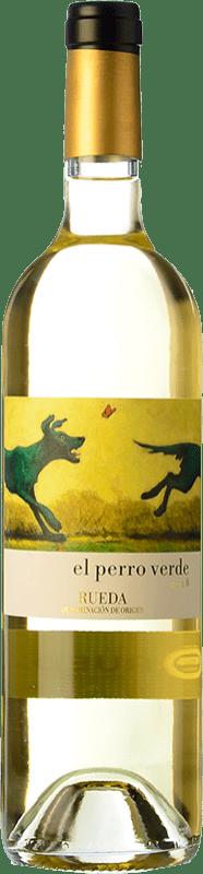 12,95 € Free Shipping | White wine Uvas Felices El Perro Verde D.O. Rueda Castilla y León Spain Verdejo Bottle 75 cl
