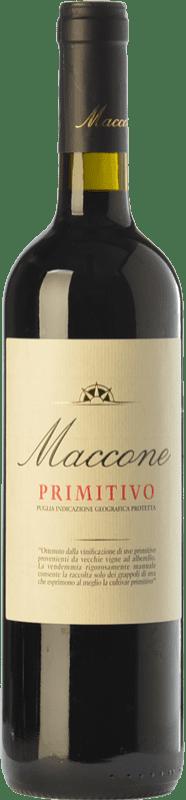 17,95 € 免费送货 | 红酒 Angiuli Maccone I.G.T. Puglia 普利亚大区 意大利 Primitivo 瓶子 75 cl