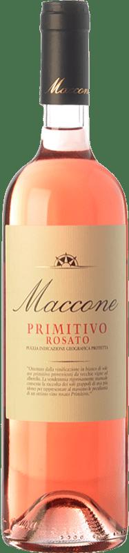 14,95 € 免费送货 | 玫瑰酒 Angiuli Rosato Maccone I.G.T. Puglia 普利亚大区 意大利 Primitivo 瓶子 75 cl