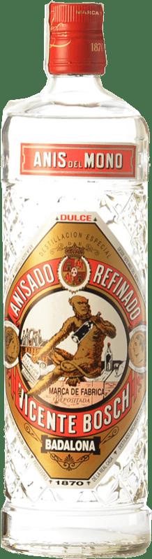 8,95 € 免费送货 | 八角 Anís del Mono 甜美 加泰罗尼亚 西班牙 瓶子 70 cl