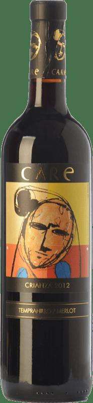 8,95 € Free Shipping | Red wine Añadas Care Crianza D.O. Cariñena Aragon Spain Merlot, Syrah Bottle 75 cl