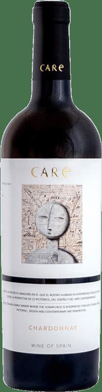 9,95 € Free Shipping | White wine Añadas Care D.O. Cariñena Aragon Spain Chardonnay Bottle 75 cl