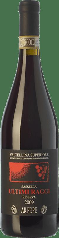 87,95 € Free Shipping | Red wine Ar.Pe.Pe. Sassella Riserva Ultimi Raggi Reserva 2009 D.O.C.G. Valtellina Superiore Lombardia Italy Nebbiolo Bottle 75 cl