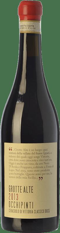 68,95 € Free Shipping | Red wine Arianna Occhipinti Grotte Alte D.O.C.G. Cerasuolo di Vittoria Sicily Italy Nero d'Avola, Frappato Bottle 75 cl